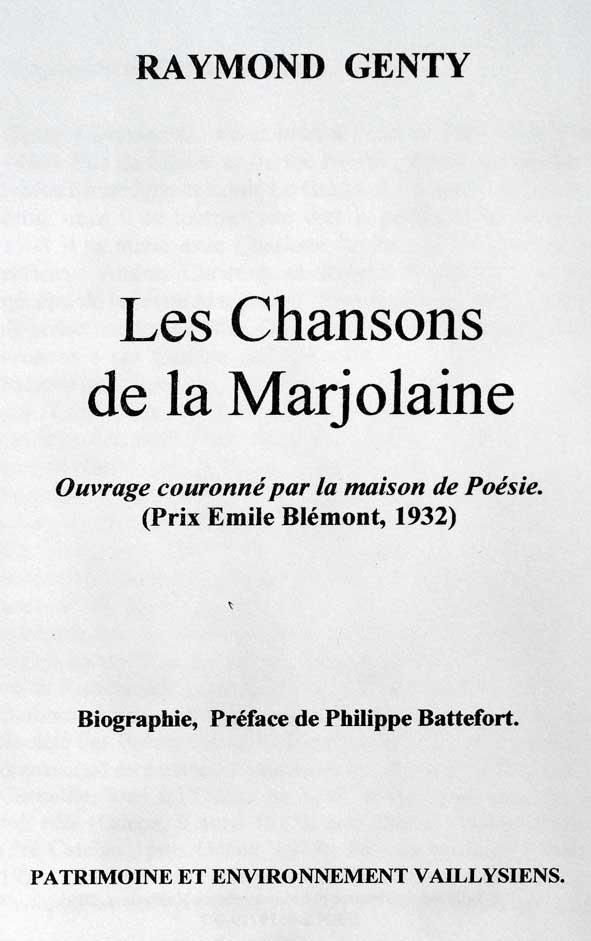 Chansons de la Marjolaine