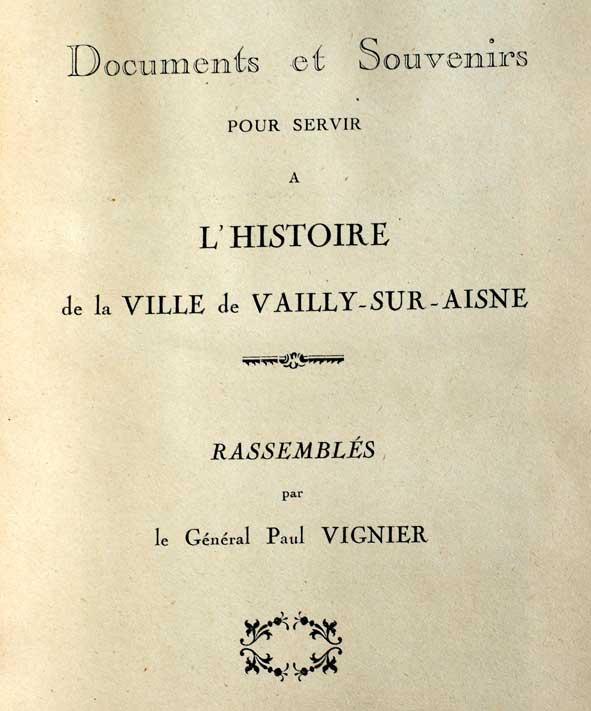 Histoire de Vailly
