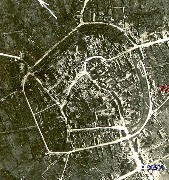 photographie aérienne de mai 1917